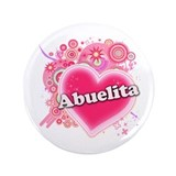 Abuelita Heart Art 3.5&quot; Button (100 pack)