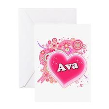 Ava Heart Art Greeting Card
