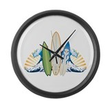 Surfboards Large Wall Clock