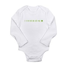 4 8 15 16 23 42 Long Sleeve Infant Bodysuit