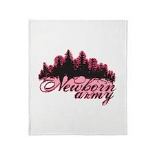 Newborn Army (Pink) Throw Blanket