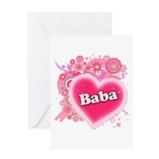 Baba Heart Art Greeting Card
