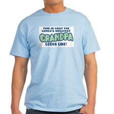 World's Greatest Grandpa Ash Grey T-Shirt