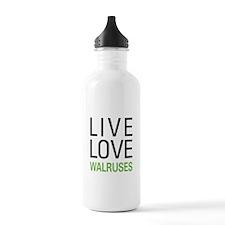 Live Love Walruses Water Bottle