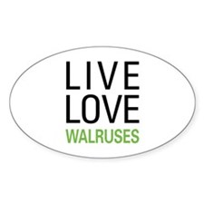 Live Love Walruses Decal