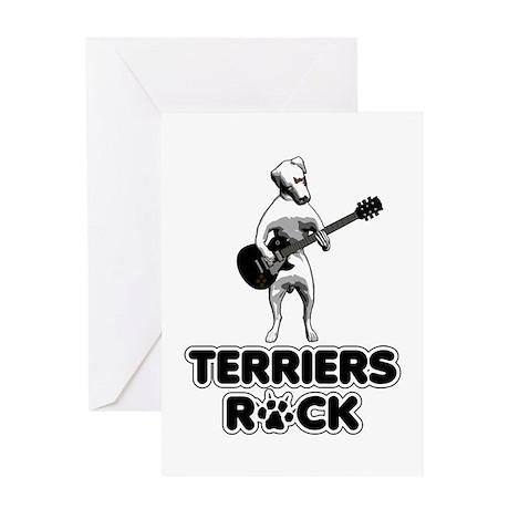 Terriers Rock Greeting Card