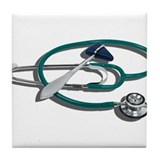 Medical Hammer Stethoscope Tile Coaster