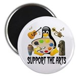 Support The Arts Cute Penguin Magnet