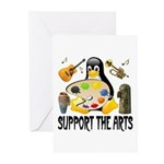 Support The Arts Cute Penguin Greeting Cards (Pk o