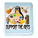 Support The Arts Cute Penguin baby blanket