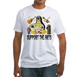 Support The Arts Cute Penguin Fitted T-Shirt