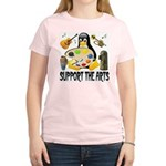 Support The Arts Cute Penguin Women's Light T-Shir
