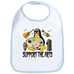Support The Arts Cute Penguin Bib
