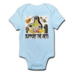 Support The Arts Cute Penguin Infant Bodysuit