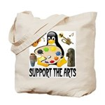 Support The Arts Cute Penguin Tote Bag