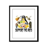 Support The Arts Cute Penguin Framed Panel Print
