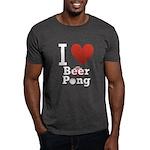 I Love Beer Pong Dark T-Shirt