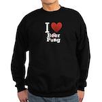 I Love Beer Pong Sweatshirt (dark)