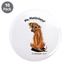 "Rhodesian Ridgeback Lover 3.5"" Button (10 pack)"
