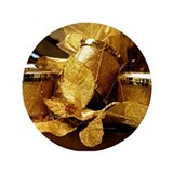 "Golden Drums 3.5"" Button"