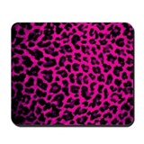 Hot Pink Leopard Print Mousepad