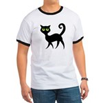 Cat With Green Eyes Ringer T
