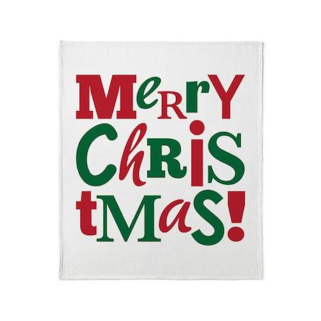 """Merry Christmas"" Throw Blanket"