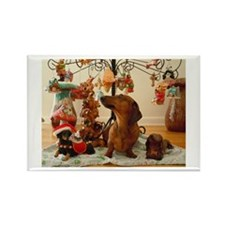 Christmas Dachshund (Ver.2) Rectangle Magnet