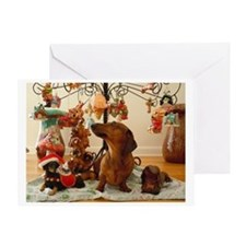 Christmas Dachshund (Ver. 2) Greeting Card