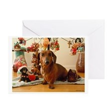 Christmas Dachshund (Ver1)Greeting Cards(Pk of 10)