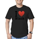 I Love Black Men's Fitted T-Shirt (dark)