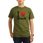 I Love Black Organic Men's T-Shirt (dark)