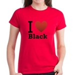 I Love Black Women's Dark T-Shirt