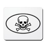 Skull & Crossbones Oval Mousepad