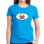 Skull & Crossbones Oval Women's Dark T-Shirt