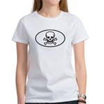 Skull & Crossbones Oval Women's T-Shirt