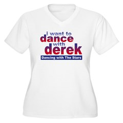 I Want to Dance with Derek Women's Plus Size V-Nec