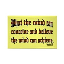 Napoleon Hill Quote Rectangle Magnet
