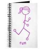 Pink Running Girl w/ Words Journal