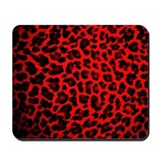 Red &amp; Black Leopard Print Mousepad