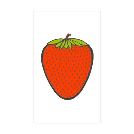 'Strawberry' Rectangle Sticker