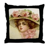 Gibson Girl Throw Pillow