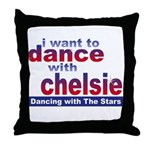 I want to Dance with Chelsie Throw Pillow