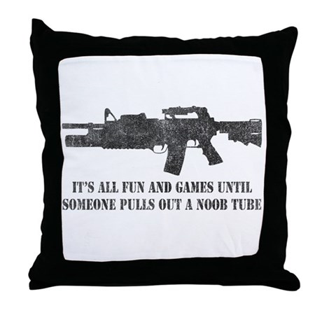 Fun and Games Noob Tube Throw Pillow