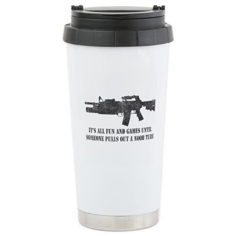 Fun and Games Noob Tube Ceramic Travel Mug