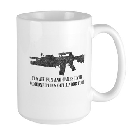 Fun and Games Noob Tube Large Mug