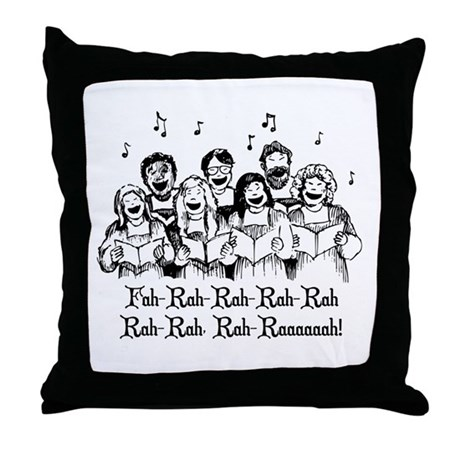 Fah-Rah-Rah-Rah Throw Pillow