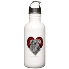 Airedale Terrier Valentine Water Bottle