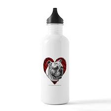 Bulldog Valentine Water Bottle