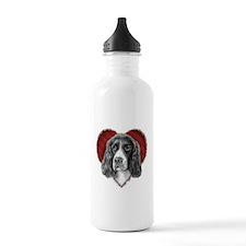 Springer Spaniel Valentine Sports Water Bottle